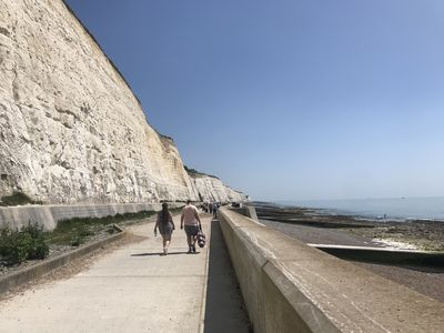 The Undercliff Walk from Saltdean to Brighton is minutes walk away.