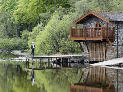 Photo for Luxury Boathouse Sleeps 2 guests  in 1 bedroom with Lake View