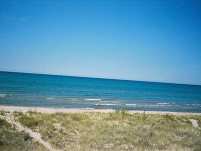 Photo for Lake Michigan Lake Front, 4 bdrms and 2 baths with Prvt Beach