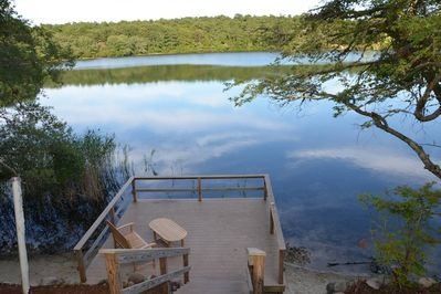 Stunning waterfront home on Flax Pond. Rated 2nd best pond on Cape Cod (by Cape Cod Online).