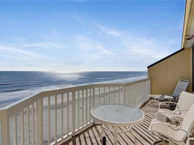 Photo for 409 Charleston Oceanfront Villa | Oceanfront Views from Private Balcony | Community Pool