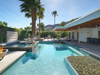 Photo for Mid-century architecture meets modern décor in Vista Las Palmas with pool, hot tub and home theater