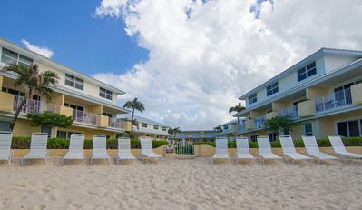 Photo for 7mile Beachfront! modern condo right on ocean!