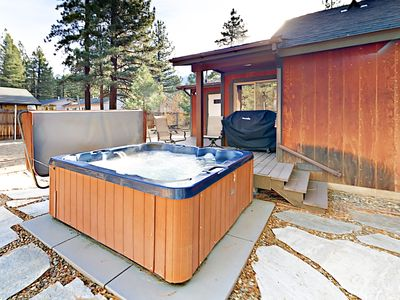 Hot Tub - After a thrilling day on the mountain, warm up with an indulgent soak in the private hot tub.