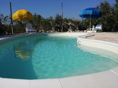 """Photo for """"VILLA TINA"""" - VILLA AND TRULLO BETWEEN ALMONDS AND OLIVES - SWIMMING POOL -COMMODY FOR SERVICES"""