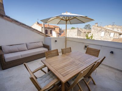 Photo for Village house in the heart of the Historic Center with roof terrace and garage.