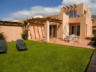 Photo for High quality 2 bed villa with private sunny garden and wonderful views