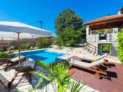 Photo for Rustic villa with private pool and sea view