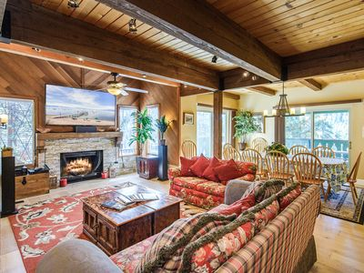 Photo for Sprawling Woodland Retreat w/ 3 Decks, Private Hot Tub & Game Room