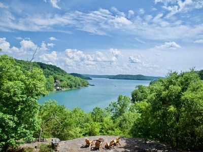 Photo for Waterfront VIEW! Pontoon Boat, Kayaks, Canoe, Paddleboards. Pet-friendly.