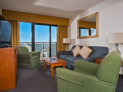 Photo for 2 Bedroom Condo w/ Oceanfront Balcony + Official On-Site Rental Privileges