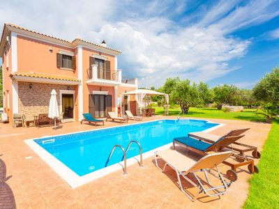 Photo for Villa Marina: Large Private Pool, Walk to Beach, Sea Views, A/C, WiFi, Car Not Required