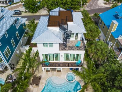 Photo for BEAUTIFUL HOME WITH AMAZING ROOF TOP VIEW - STEPS TO THE BEACH