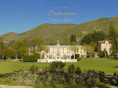 Photo for Romantic studio L'Adoration in a special castle in the heart of Provence