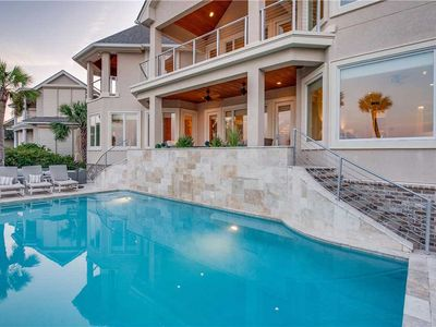 Photo for Phenomenal Five Bedroom Oceanfront Palmetto Dunes Home with Private Pool!