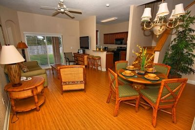 Spacious Living/Dining Area, beautifully furnished!