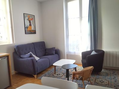Photo for 50m from the beach, ideal for couple or family & 2 children