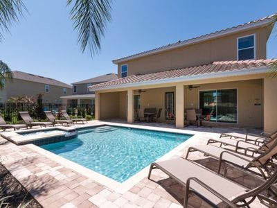Photo for Picture Relaxing by your Private Pool in Your Beautiful Villa in Encore Resort at Reunion, Orlando Villa 1159