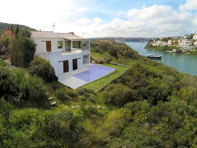 Photo for Villa in Cala Ratolí with impressive views and access to the sea, Mahón, Menorca