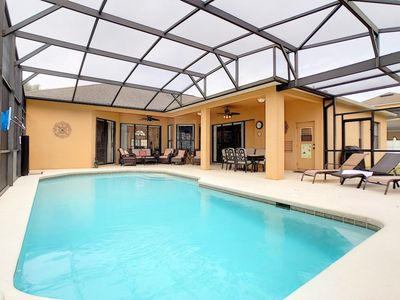 Oversized pool and pool area
