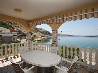 Photo for One bedroom apartment near beach Metajna, Pag (A-6497-c)