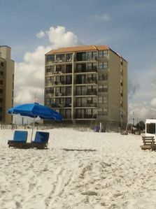 Photo for Beachfront 2 BR, 2BA condo - Balcony,  Pool, Covered Parking!Best Location in GS