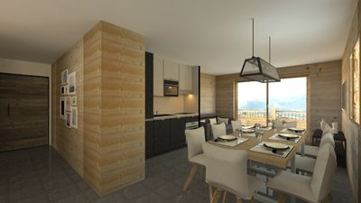 Photo for Upscale apartment on the slopes, panoramic views