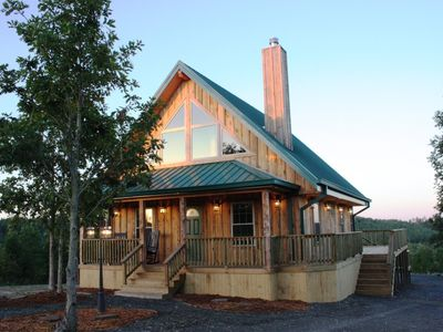 Photo for Sunset Cabin - Secluded nice cabin on 210 acres in Ouachita Mountains & lake