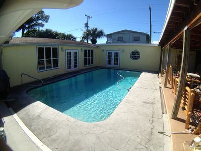 Photo for Private Pool Near Beach And Town - Bamboo Cottage On Quiet Palmway