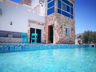 Photo for Sea view holiday villa with pool in Djerba tourist area