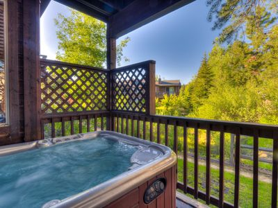 Photo for Contemporary & Spacious Condo W/ Hot Tub; 1mi from Downtown, Private Hot Tub
