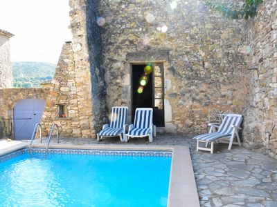 Photo for Spacious stone farmhouse with private pool