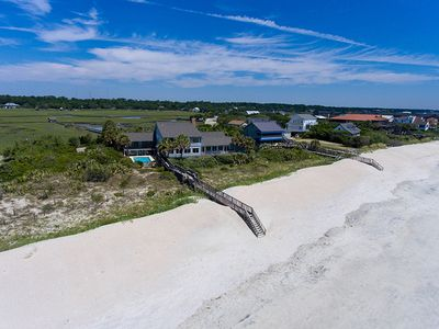 Photo for Sprawling Pawleys Island Oceanfront Estate with Private Pool, Hot Tub, Dock on the creek plus Chef's Kitchen