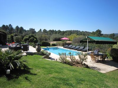 Photo for Exceptional 6 Bedroom Villa, Fantastic Views, Located In Valbonne