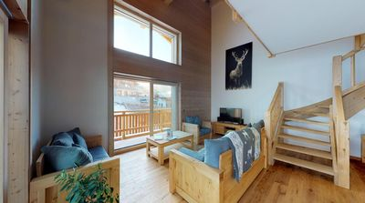 Photo for Brand new First class 4-bedroom apartment superior, 4*, for up to 12 people ski-in and ski-out. Big