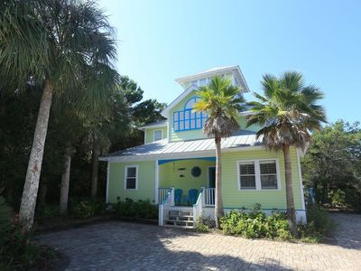 Photo for Outdoor living space, huge back yard with pathway to beach access, steps to pool