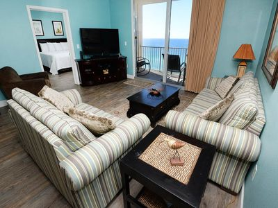Photo for Upscale gulf-front condo! Free Wi-Fi. Minutes to Pier Park Shopping Center!
