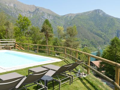 Photo for apartment in the hills, in a quiet and sunny location, with a lake view
