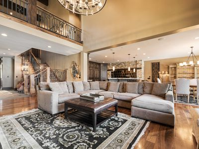 Photo for Charming ski-in ski-out townhome with gourmet kitchen, elegant decor, theater and private hot tub
