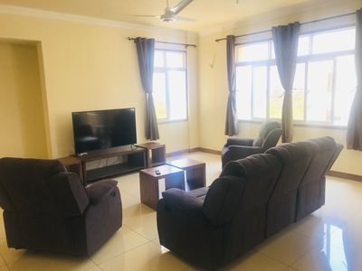 Photo for Relaxing Ocean View Apt. 2 private rooms (ensuite) with Pool and private balcony