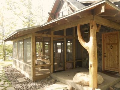 Photo for Exceptional, Architect designed, Pipe Lake Cabin, clean, lovely lake.