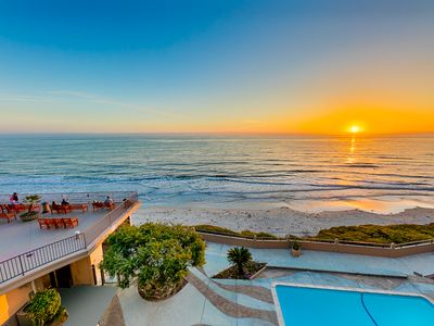 Photo for 10% OFF AUG - Amazing Beachfront Home w/ Deck, Pool & Ocean Views