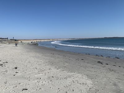 Sachuest Beach with wildlife refuge at Sachuest Point.