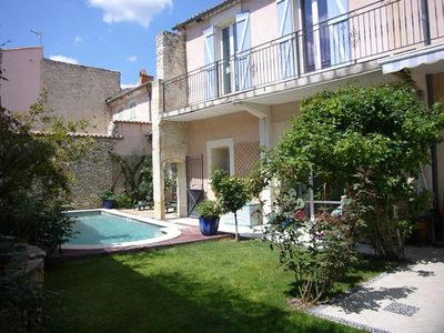 Photo for Townhouse with pool, garden, terraces, garage 7 MN walk CV