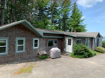 Photo for Oceanfront Cottage & Guest House, Private Beach, 3 Miles to Acadia National Park