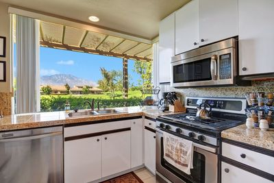 All the amenities and more in your Granite/Stainless  Gas Kitchen. What a view!
