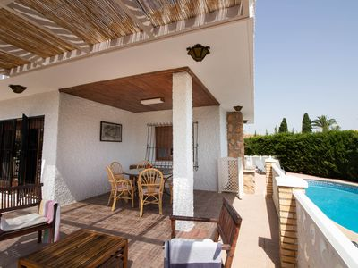 Photo for Comfortable family-friendly villa. Own garden and pool. WiFi.