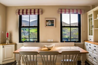 Railway Cottage - Kitchen view of Coolroe Mountain