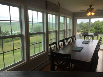 Photo for Vine Rd. Farmhouse, PennYan NY; Keuka Lake, Finger Lakes. Great kitchen and view
