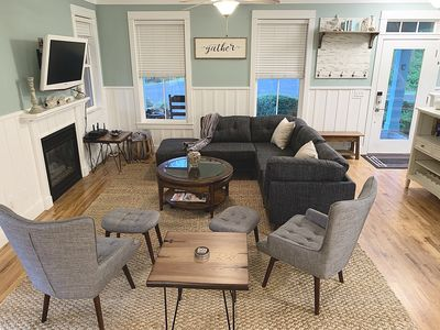 Photo for Cozy cottage family beach house, sleeps 10+, hot-tub & game room in Olivia Beach